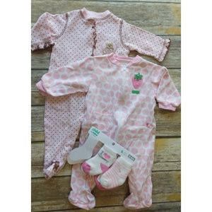 Baby Girl Pajamas Lot with socks size 6m. #0816